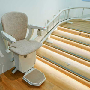 Handicare 2000 Curved Stairlift e1593006340334