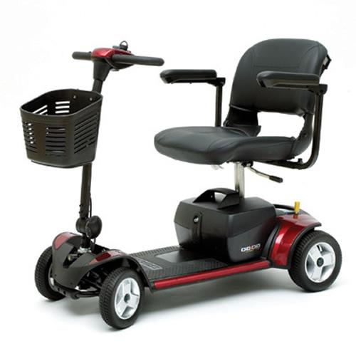 pride go go elite traveler four wheel mobility scooter